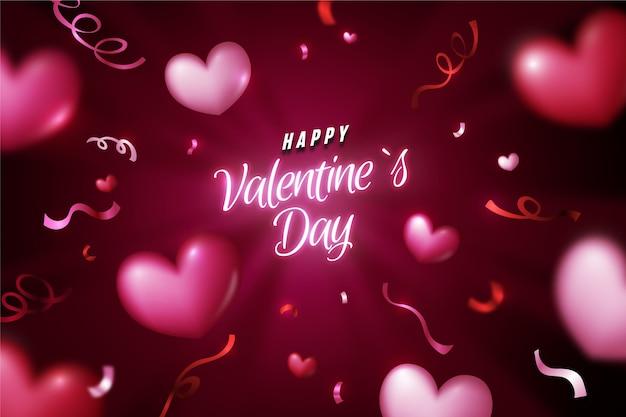 Realistischer valentinstaghintergrund