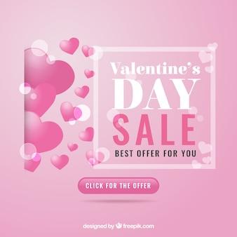 Realistischer valentinstagverkaufshintergrund