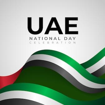 Realistischer vereinigter arabischer emirate nationalfeiertag