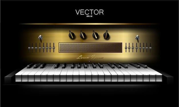 Realistischer virtueller synthesizer für aufnahmestudios. klavier. .