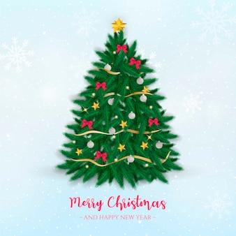Realistischer weihnachtsbaum