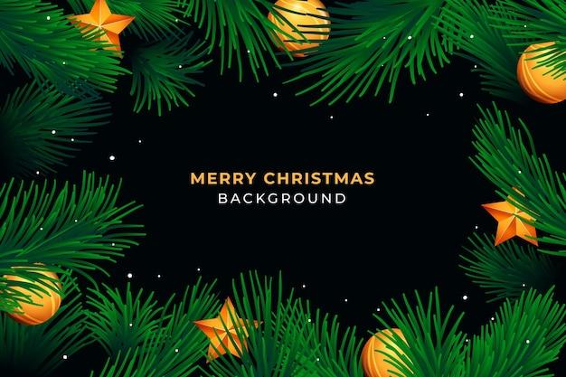 Realistischer weihnachtskranzhintergrund