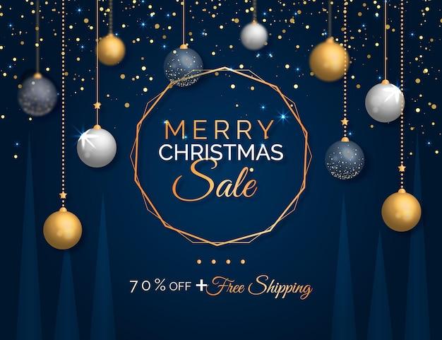 Realistischer weihnachtsverkauf Kostenlosen Vektoren