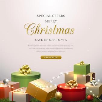 Realistischer weihnachtsverkauf