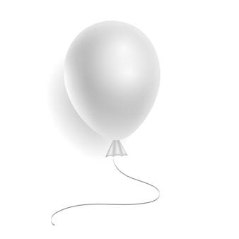 Realistischer weißer heliumballon