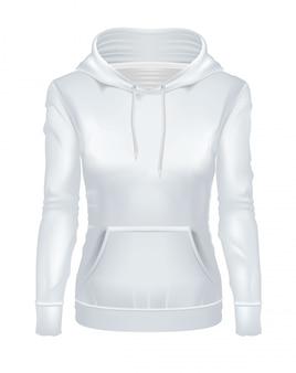 Realistischer weißer mädchen hoodie