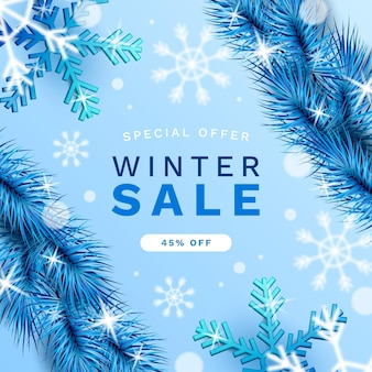 Realistischer winterschlussverkauf