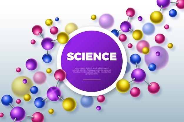 Realistischer wissenschaftlicher hintergrund