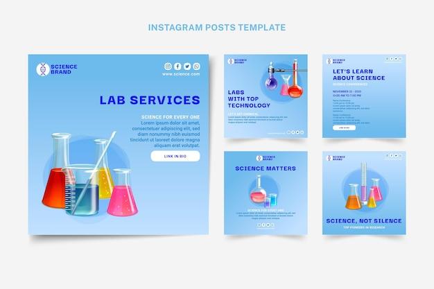 Realistischer wissenschafts-instagram-post