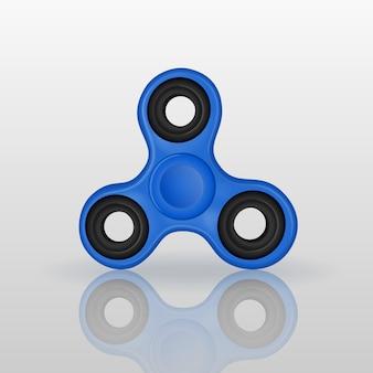 Realistischer zappelspinner mit spiegelreflexion. antistressspielzeug der handrotation für entspannen sich. twist spielerei um tricks zu machen.
