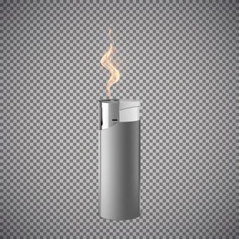 Realistischer zigarettenanzünder. grafikkonzept für ihr design