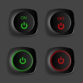 Realistisches 3d-button-sammlungspaket