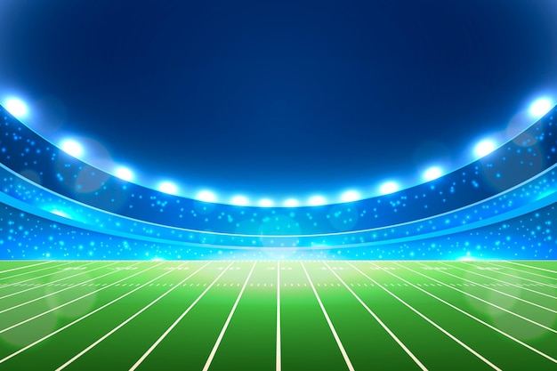 Realistisches american-football-stadion