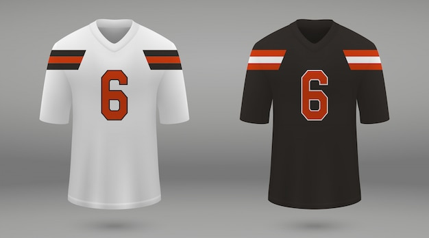 Realistisches american-football-trikot