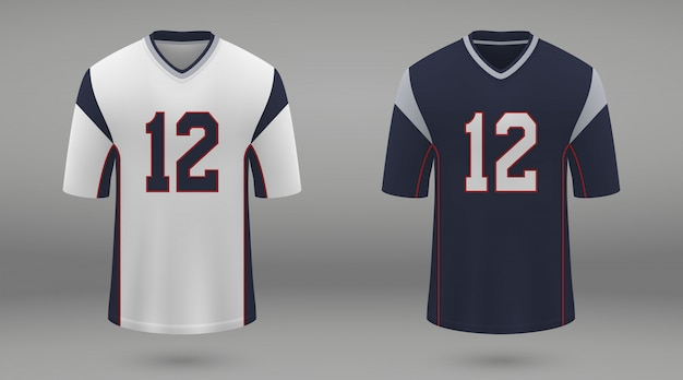 Realistisches american-football-trikot