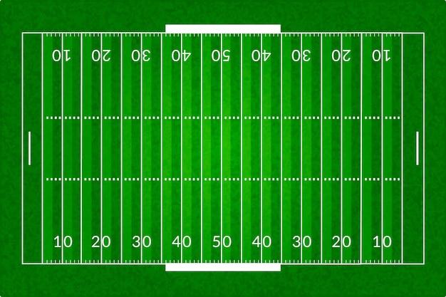 Realistisches amerikanisches fußballfeld