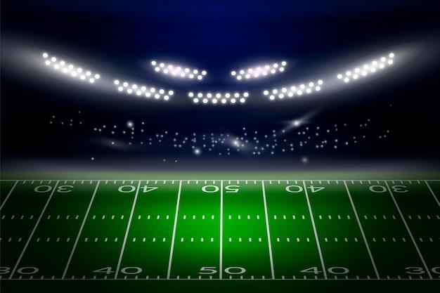 Realistisches amerikanisches fußballstadion