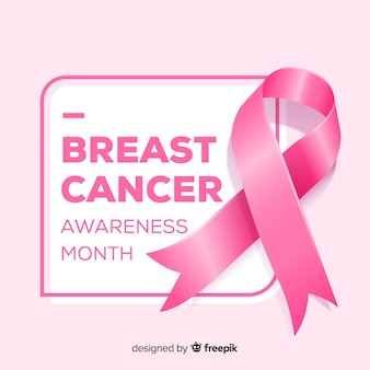 Realistisches band für brustkrebsbewusstsein