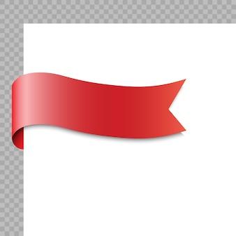 Realistisches band oder fahne auf weißem hintergrund