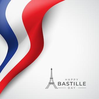 Realistisches bastille-tageskonzept