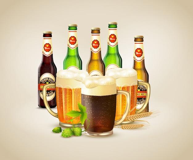 Realistisches bier