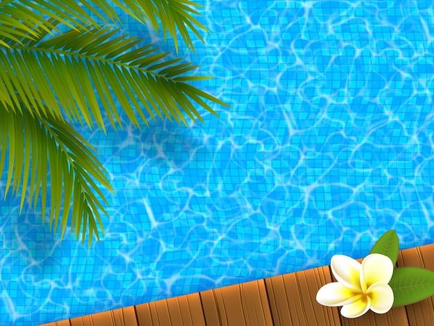 Realistisches blaues schwimmbad