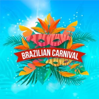 Realistisches brasilianisches karnevalsdesign