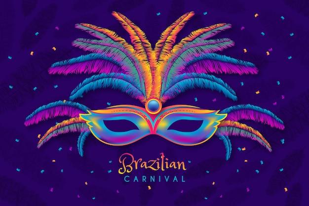 Realistisches brasilianisches karnevalskonzept