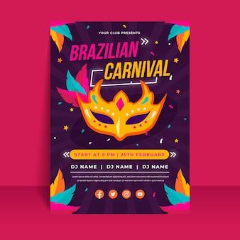 Realistisches brasilianisches karnevalsplakat