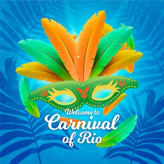 Realistisches brasilianisches karnevalsthema