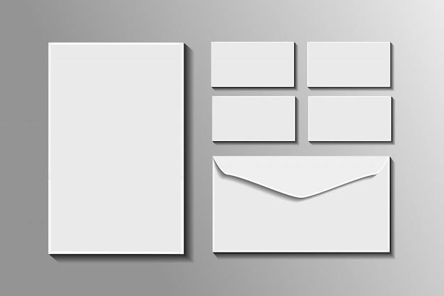 Realistisches briefpapiermodell für dekoration und abdeckung. konzept des corporate identity branding.