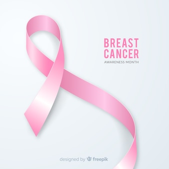 Realistisches brustkrebs-bewusstseinsmonatsband