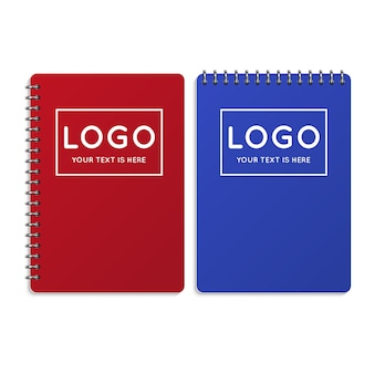 Realistisches büronotizbuch, tagebuchillustration. notizbuch für geschäft oder schule