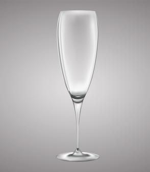 Realistisches champagnerglas.