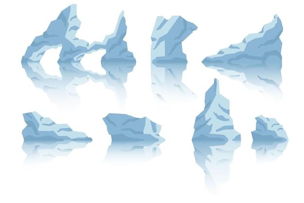 Realistisches design der eisbergkollektion