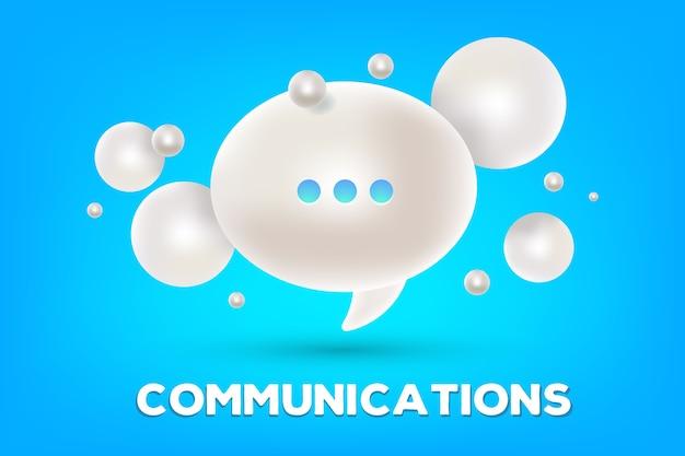 Realistisches design der online-chat-technologie