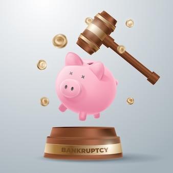Realistisches design des insolvenzkonzepts