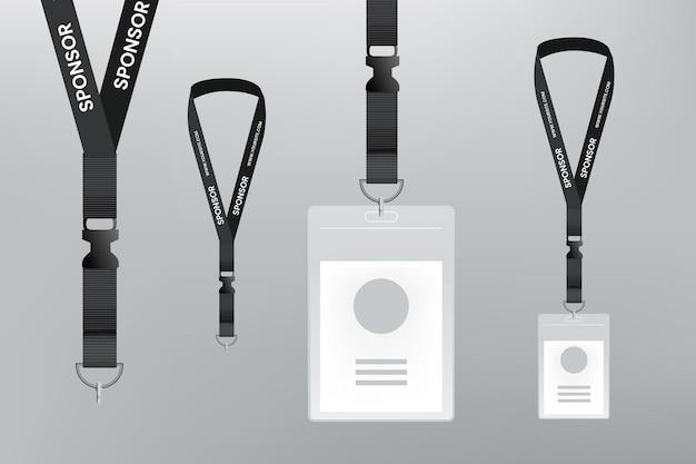 Realistisches design-id-karten-briefpapier