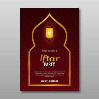 Realistisches design iftar einladung