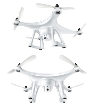 Realistisches drone quadcopter set