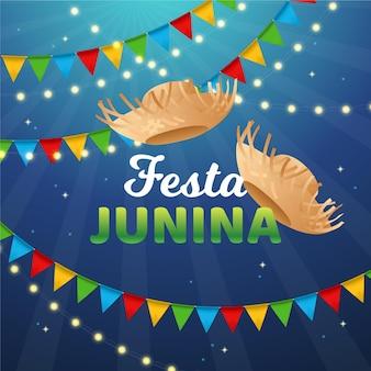 Realistisches festa junina-konzept