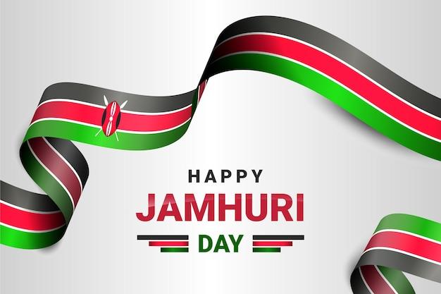 Realistisches flaggen-jamhuri-tagesereignis