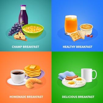 Realistisches frühstück