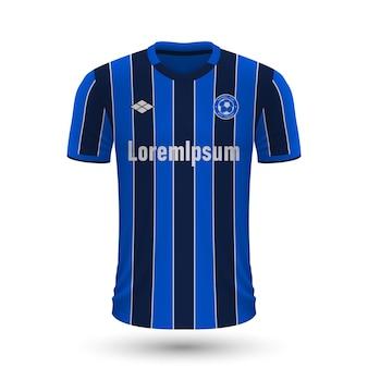 Realistisches fußballtrikot atalanta 2022, trikotvorlage für fußball