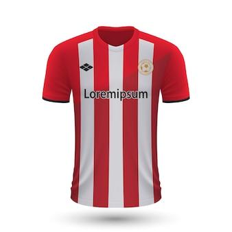 Realistisches fußballtrikot athletic bilbao 2022, trikotvorlage für