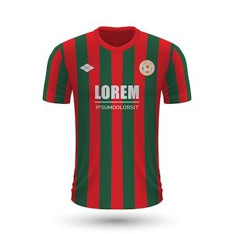Realistisches fußballtrikot augsburg 2022, trikotvorlage für fußball