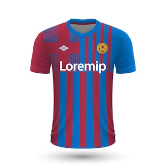 Realistisches fußballtrikot barcelona 2022, trikotvorlage für footb