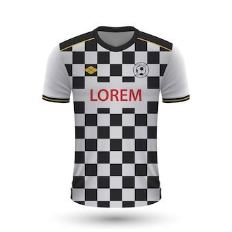 Realistisches fußballtrikot boavista 2022, trikotvorlage für fußball