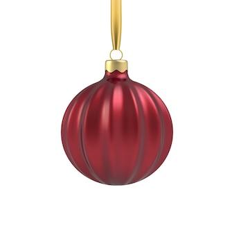 Realistisches gold-weihnachtsbaumspielzeug in form einer spirale.