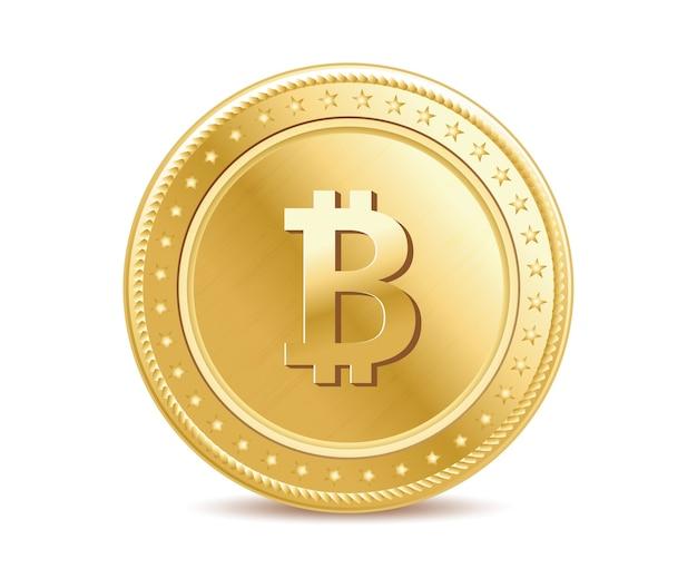 Realistisches goldenes bitcoin